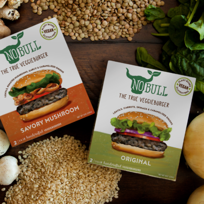 NoBull Veggieburgers | Identity and Package Design