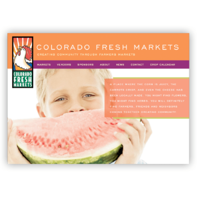 Colorado Fresh Markets | Web Design for Group of Farmers Markets