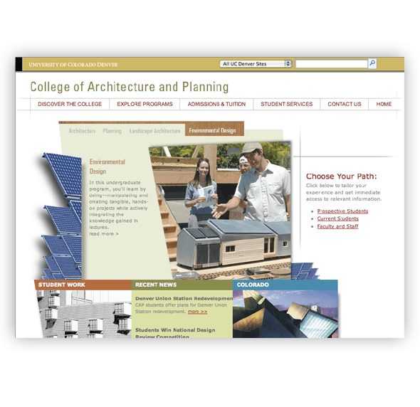 CU (University of Colorado at Boulder) | Web Design
